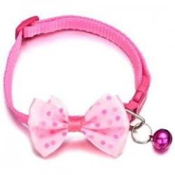 Rózsaszín. Kisállat macska kutya Bowknot harang kisállat csokornyakkendő nyakkendő nyakörv cica kölyök állítható