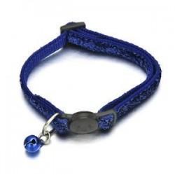 Kék. Biztonságos, személyre szabott, elszakadt macska gallér harangnyakkendővel a macskacica számára