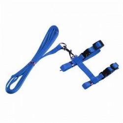 Kék. Macska kiskutya állítható kábelköteg nylon póráz vezető biztonsági sétáló kötél 4 szín