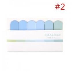 * 2. DIY matrica Könyvjelző Memo papír Marker Figyelmeztetés zászlók Tab Sticky Note Irodaszerek