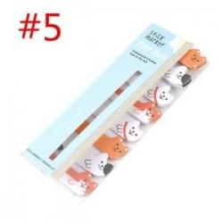 * 5. Cartoon Animal Panda macska Memo Pad matricák Öntapadó jegyzetek iskolai helyhez kötött eszköz
