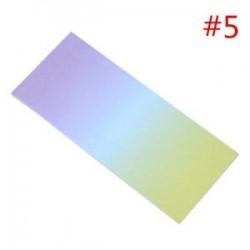 * 5. 40db szivárvány színes ragadós jegyzetek rajzfilm írás diák tanulmány papír memo pad