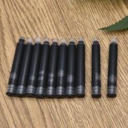 Fekete 20db. 20Pcs íróeszköz eldobható toll fekete kék szökőkút tintapatron utántöltő
