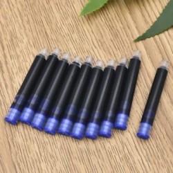 Kék 20db. 20Pcs íróeszköz eldobható toll fekete kék szökőkút tintapatron utántöltő