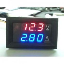 0-100V 10A kék piros LED DC kettős kijelző Digitális áram- és feszültségmérő mérő