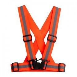 Fényvisszaverő állítható biztonsági biztonság Nagy láthatóságú mellény fogaskerék Stripes Jacket