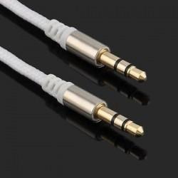 fehér. fehér. Arany 3,5 mm-es férfi és férfi autós Aux kiegészítő kábel sztereó audiokábel telefon iPodhoz