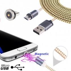 1M mágneses USB töltőkábel adatkábel szinkron töltő adapter Android Samsung