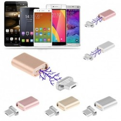 Mágneses Mikro USB átalakító töltő adapter Android Samsung 1db