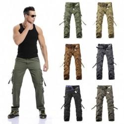 1x Új férfi katonai mintás nadrág Army Zöld Nagy zsebbel díszített