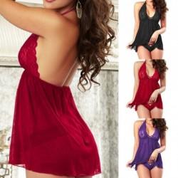 1x Szexi női csipke ruha Babydoll Fehérnemű fehérnemű Hálóruha Hálóruha G-string