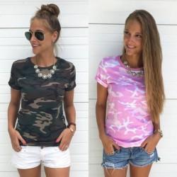 1x Női Nyári alkalmi T -Shirt Laza póló ing felső Blúz