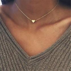 Nők szeretik a szív medál arany ezüst choker Chunky lánc Bib nyaklánc ékszer