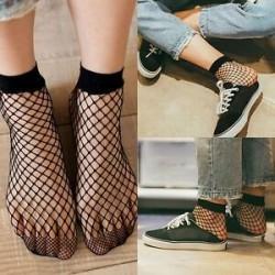 Női fekete hálós háló hálómintás harisnyanadrág harisnya harisnya divat zokni jp