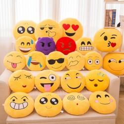 30 cm puha emoji sárga kerek párna hangulatjel smiley plüss