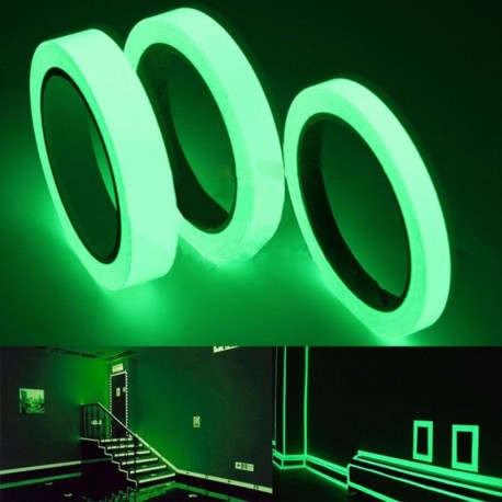 1,5 cm * 1m Fényes fluoreszkáló éjszaka öntapadós világítós matrica 3 színben