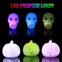 1x Színes halloween tök csontváz lámpa LED fény fesztivál dekoráció