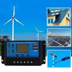 10A 12V 24V-os napelemes töltővezérlő Akkumulátor-szabályozó Kettős USB LCD