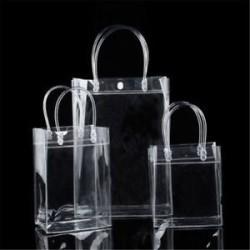 Női átlátszó tiszta tote Gft táska erszényes váll táska PVC méret S / M / L