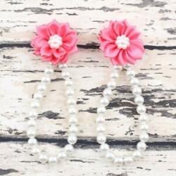 Nyári csecsemő gyerekek baba lány egyedül kiságy mezítláb gyűrű gyöngy virág cipő szandál