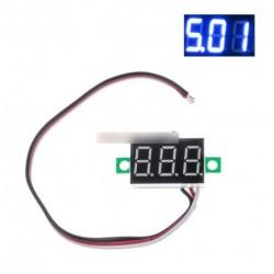DC 0-30V 3 vezeték 0,36 hüvelykes LED Panel feszültség mérő 3-digiis kijelző Feszültségmérő
