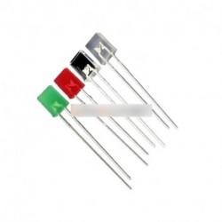 10db 2X5X7mm 2Pin piros / fehér/kék/zöld fény LED Light-emitting Diode tér
