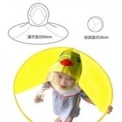 Legfrissebb rajzfilm összecsukható kacsa gyerekek esőkabát Umbrella UFO Shape Rain Hat Cape