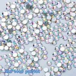 SS5AB (1.8mm) 1440PCS. 1440pcs lapos hátsó körömlakk csillogó gyémánt drágakövek 3D tippek díszítés