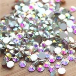 SS4ABďĽ1.5-1.7mmďĽ ‰ 1440PCS. 1440pcs lapos hátsó körömlakk csillogó gyémánt drágakövek 3D tippek díszítés