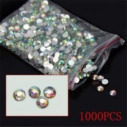 1000db Csillogó kristályos - strasszos dísz körömhöz - műkörömhöz