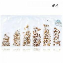 GOLD sárga 1440db (1.5mm-3.8 .... 1440pcs lapos hátsó körömlakk csillogó gyémánt drágakövek 3D tippek díszítés