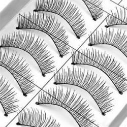 * 5 (10 pár). 8 páros smink puha, vastag, hamis szempillák szemhéjfesték Nautral mink kézzel készített