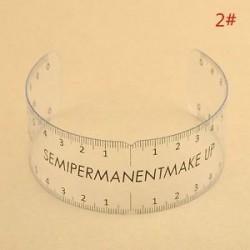2 *. Újrafelhasználható smink szemöldök stencil mikroblasztó intézkedés tetováló uralkodó félig tartós