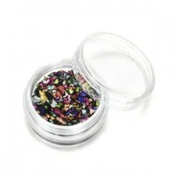 Sokszínű. Törött üveg kő drágakövek strasszok köröm kristály köröm dekorációs tippek JP