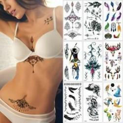 Szexi test mellkasi művészet 3D virág ideiglenes matricák vízálló kar tetoválás matricák