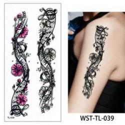 * 39. Szexi test mellkasi művészet 3D virág ideiglenes matricák vízálló kar tetoválás matricák