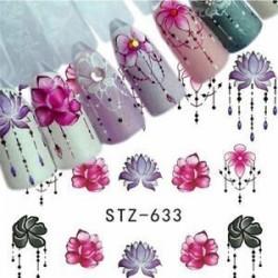 5db Ideiglenes köröm tetoválás - vízálló matrica - unisex - Virág mintás - Többféle mintával - A25 verzió