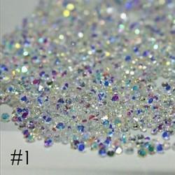 Vegyes kristályos - strasszos dísz körömhöz - műkörömhöz - B verzió