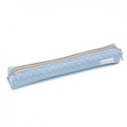 Kék. Kawaii Candy Dot levélpapír táska vászon cipzár ceruza esetben iskola diák szállít