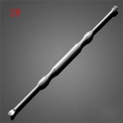 2 *. Rozsdamentes acél fülpick curette viaszpálca Earpick eltávolítása Hasznos tisztító eszköz