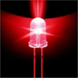 200db 5 mm-es kerek piros víz tiszta fény LED dióda szett