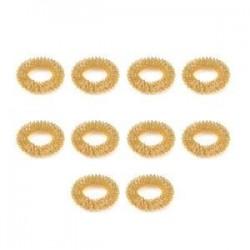 10db arany. Sok 10Pcs ujjmasszázs gyűrű Akupunktúra Egészségügyi test Akupresszúrás masszírozó