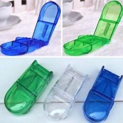 Kényelmes tárolódoboz Gyógyszerpapír tartó Tabletvágó Splitter Divider eszköz