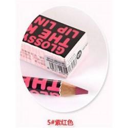 * 5 Ruby Red. 12 szín szépségápoló vízálló hidratáló ajakvászon ceruza toll kozmetikai