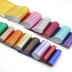 14 szín DIY körömfólia transzfer matricák Tükör hatás Nail Art Csillagfóliák