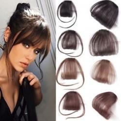 1PC vékony légáramlatok Az emberi hajhosszabbítások a Fringe elülső frizuráján találhatóak