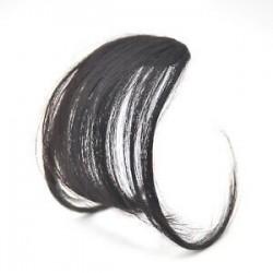 Fekete barna. 1PC vékony légáramlatok Az emberi hajhosszabbítások a Fringe elülső frizuráján találhatóak