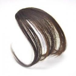 Világos barna. 1PC vékony légáramlatok Az emberi hajhosszabbítások a Fringe elülső frizuráján találhatóak