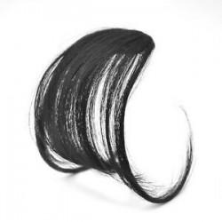 Természetes fekete. 1PC vékony légáramlatok Az emberi hajhosszabbítások a Fringe elülső frizuráján találhatóak