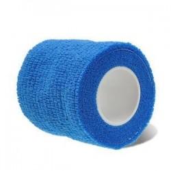 Kék. Elasztikus öntapadós kötszer gézszalag Elsősegély-egészségügyi ellátás